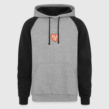 Pizza is my Hobby - Colorblock Hoodie