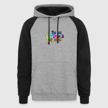 The last time at my school - Colorblock Hoodie