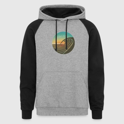 SunsetPeak_CircleEmblem_SMALLER - Colorblock Hoodie