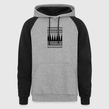 Maoti tribe tattoo - Colorblock Hoodie