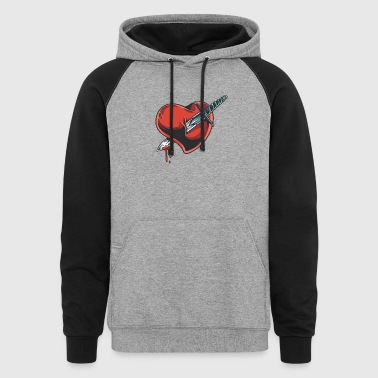 knife_in_heart - Colorblock Hoodie