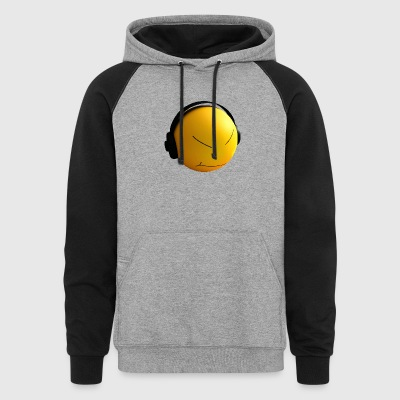 Ball with earphones - Colorblock Hoodie