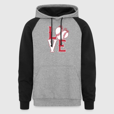 I Love My Softball Boy Shirt - Colorblock Hoodie