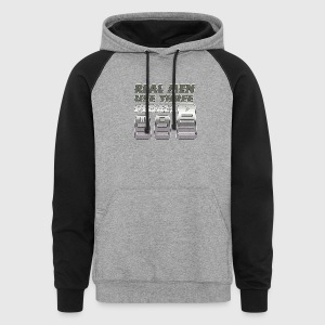 Real men silver - Colorblock Hoodie