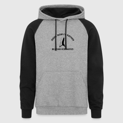 gymnastics designs - Colorblock Hoodie