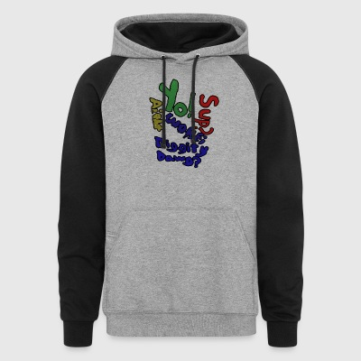 Moomaw_Text_Outlined - Colorblock Hoodie