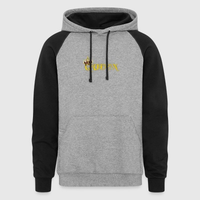 GOLD QUEEN CROWN GEMS AND DIAMONDS - Colorblock Hoodie