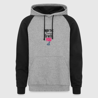 May the course be with you - Colorblock Hoodie