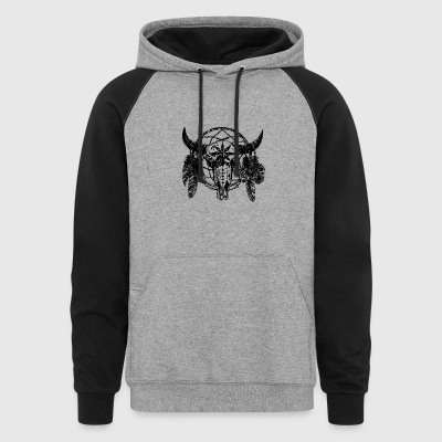 Dream Catcher Skull Bull T-Shirt - Colorblock Hoodie