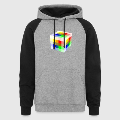 Multi Colored Cube - Colorblock Hoodie
