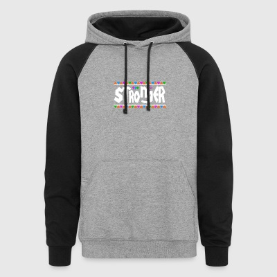 Stronger - Tribal Design (White Letters) - Colorblock Hoodie