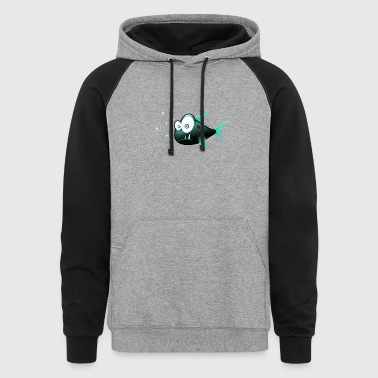 Funny Fish Shark - Colorblock Hoodie
