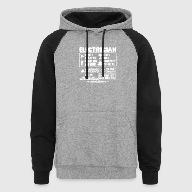 Electrician T Shirt - Colorblock Hoodie