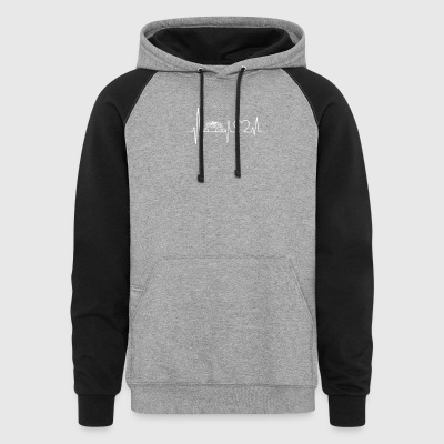 rhinoceros heartbeat shirt - Colorblock Hoodie