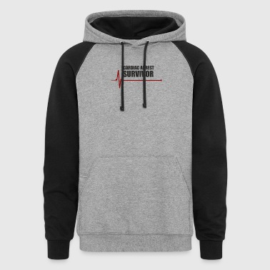sudden cardiac arrest survivor - Colorblock Hoodie