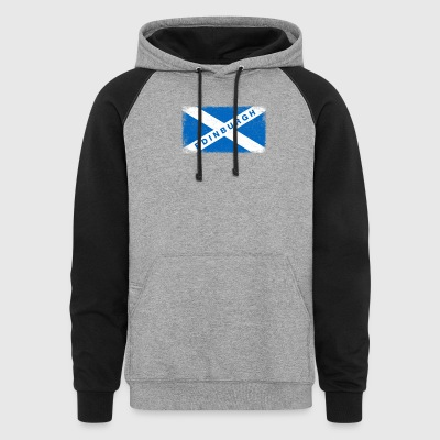 Edinburgh Shirt Vintage Scotland Flag T-Shirt - Colorblock Hoodie
