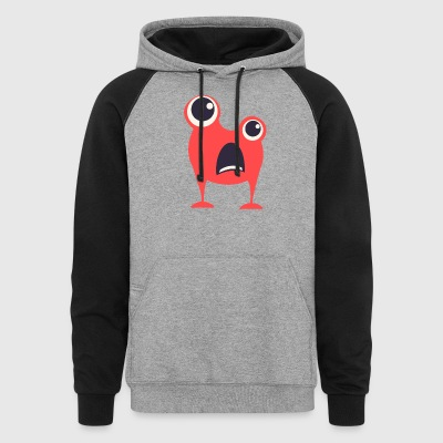 red_monster_without_hands - Colorblock Hoodie