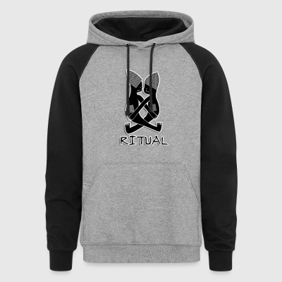 Ritual (#1 Africa, Black & White) - Colorblock Hoodie