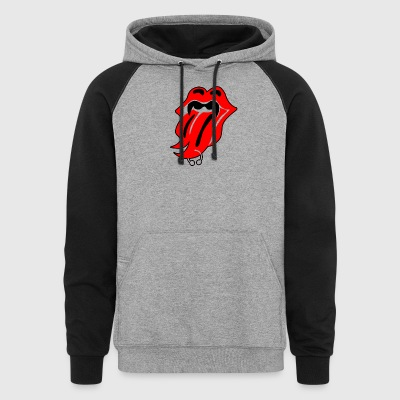 Lips And Fangs - Colorblock Hoodie