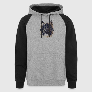 Polygon Wolf - Colorblock Hoodie
