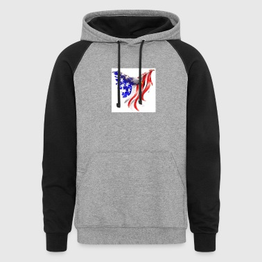 Freedom eagle - Colorblock Hoodie