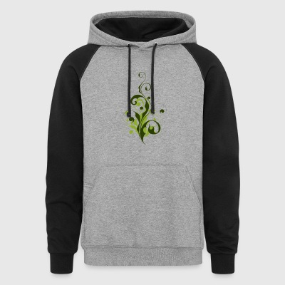 Abstract Flora - Colorblock Hoodie