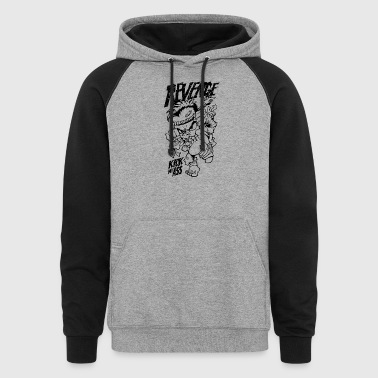 kick_my_ass_black - Colorblock Hoodie