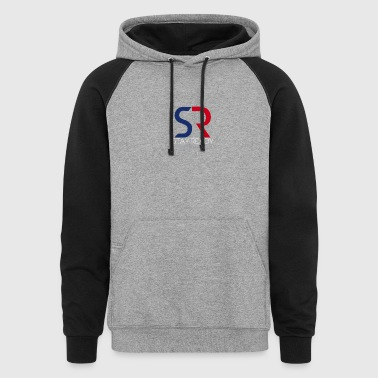 Red/Blue - Colorblock Hoodie