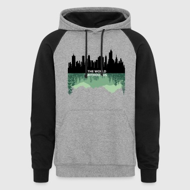 THE WORLD WITHOUT US - Colorblock Hoodie