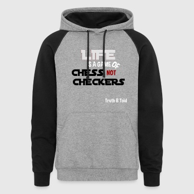 LIFE GAME OF CHESS - Colorblock Hoodie