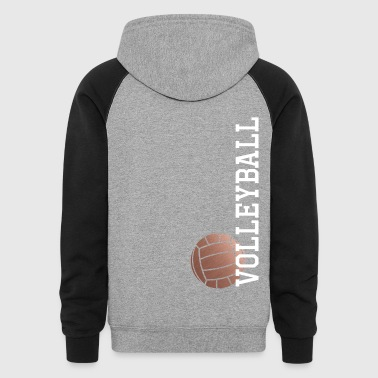 Vertical Rose Gold Volleyball - Colorblock Hoodie