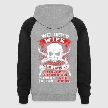 Proud Wife Of An Awesome Welder T-Shirt - Colorblock Hoodie