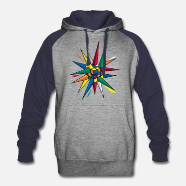 Rubiks Cube Rubik's Cube Colourful Spikes - Colorblock Hoodie