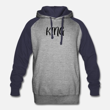 King Couple Shirt - Unisex Colorblock Hoodie