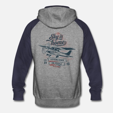 Airplane The sky is home - Unisex Colorblock Hoodie