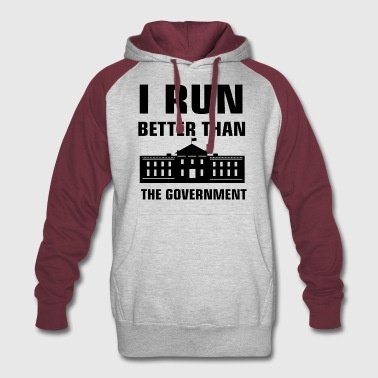 Run better than the Government - Colorblock Hoodie