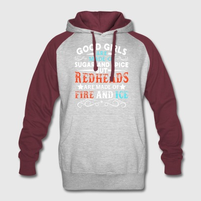 Good girls are made of sugar and spice but redhead - Colorblock Hoodie