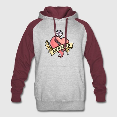 I Love Zombies - Colorblock Hoodie