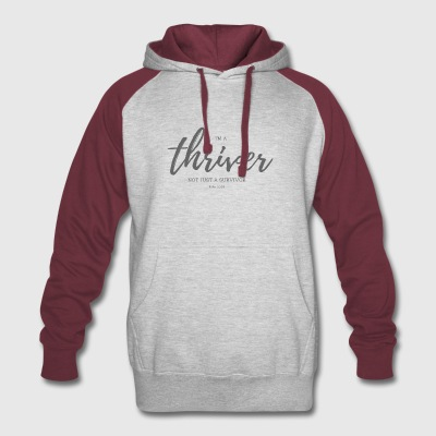 I'm a thriver - Colorblock Hoodie