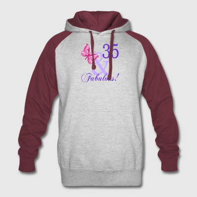 35 and Fabulous - Colorblock Hoodie