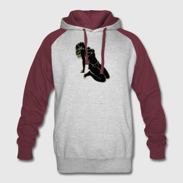 UP_S--DE_LOOING_GIRL_BLACK - Colorblock Hoodie