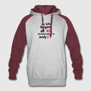 17th birthday design - Colorblock Hoodie