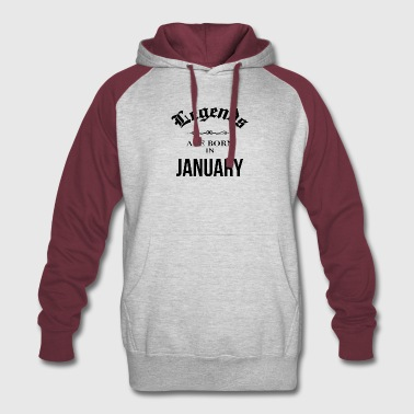 Birthday Legends are born in January - Colorblock Hoodie