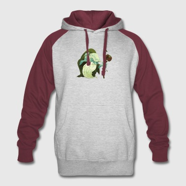 sorcerer-forest-wizard-cool-fantastic-wood goblin - Colorblock Hoodie