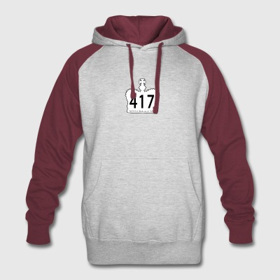 417-white-motto - Colorblock Hoodie