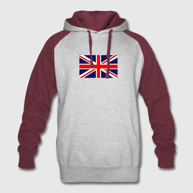 british flag - Colorblock Hoodie