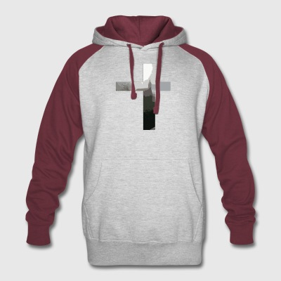 Crucifix And Church - Colorblock Hoodie
