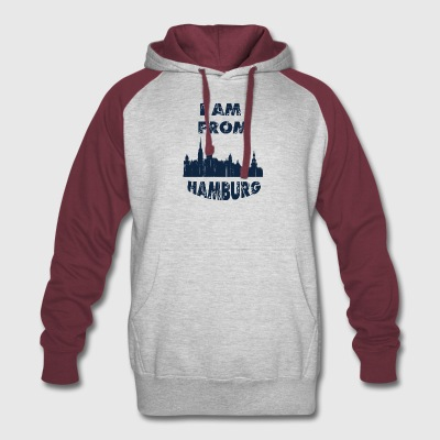 HAMBURG I am from - Colorblock Hoodie