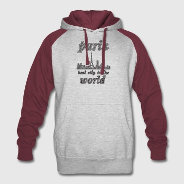 Paris Best city in the world - Colorblock Hoodie