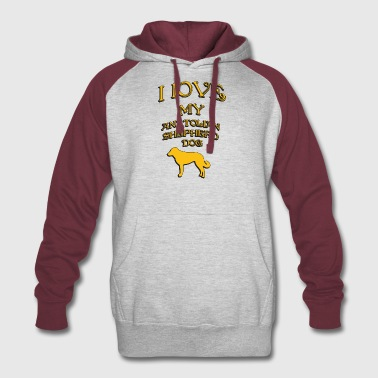 I love my dog Anatolian Shepherd Dog - Colorblock Hoodie